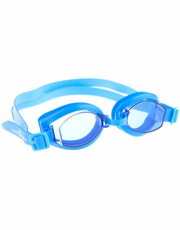 Тренировочные очки для плавания SimplerТренировочные очки<br>Удобные очки SIMPLER от Mad Wave отлично дополнят как тренировку, так и отдых на море. Удобная посадка, обеспеченная высоким обтюратором и двойным силиконовым ремешком, надежно защитит глаза от протекания и повысит комфорт в использовании. Линзы с защитой от ультрафиолета UV 400 и покрытием от запотевания Антифог.<br><br>Размер: None<br>Цвет: Голубой