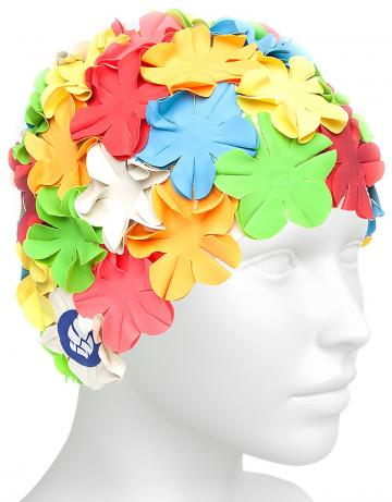 Латексная шапочка для плавания FlowerЛатексные шапочки<br>Женская латексная шапочка для плавания. Оригинальный цветочный дизайн.<br><br>Цвет: Красный
