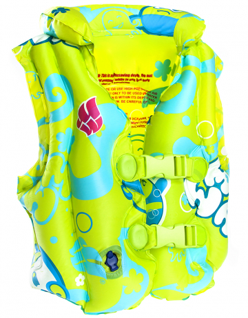 Надувной жилет для плавания Swimvest Mad BubblesЖилет надувной<br>Фирменный надувной жилет. 3 раздельных камеры для безопасности. На возраст от 3-6 лет. Надежный текстурированный ПВХ. Большой удобный и надежный клапан. Прошел европейский тест на безопасность EN 71.<br><br>Цвет: Зеленый