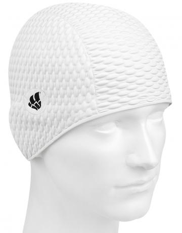 Латексная шапочка для плавания BubbleЛатексные шапочки<br>Латексная шапочка. Имеет эргономичную форму.<br><br>Размер: None<br>Цвет: Белый