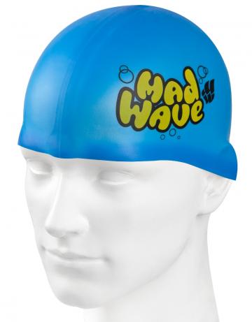 Силиконовая шапочка для плавания Silicone Junior SolidСиликоновые шапочки<br>Силиконовая шапочка Mad Wave Silicone Junior Solid - детская модель шапочки с логотипом Mad Wave, сделана из качественного силикона и подходит для всех видов занятий плаванием. Силикон - гипоаллергенный материал, не вызывает зуда и раздражения, а это особенно важно для чувствительной детской кожи. Модель имеет яркие расцветки, которые вызывают положительные эмоции у ребенка и делают его заметным на воде издалека.<br><br>Цвет: Голубой