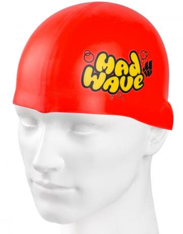 Силиконовая шапочка для плавания Silicone Junior SolidСиликоновые шапочки<br>Силиконовая шапочка Mad Wave Silicone Junior Solid - детская модель шапочки с логотипом Mad Wave, сделана из качественного силикона и подходит для всех видов занятий плаванием. Силикон - гипоаллергенный материал, не вызывает зуда и раздражения, а это особенно важно для чувствительной детской кожи. Модель имеет яркие расцветки, которые вызывают положительные эмоции у ребенка и делают его заметным на воде издалека.<br><br>Цвет: Красный
