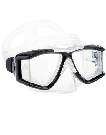 Маска для дайвинга и сноркелинга Panoramic maskМаски<br>Двухлинзовая маска с расширенным боковым обзором. Закаленное стекло. Противоударная. Силиконовый обтюратор и ремешок. Упакована в пластиковый бокс.<br><br>Цвет: Черный
