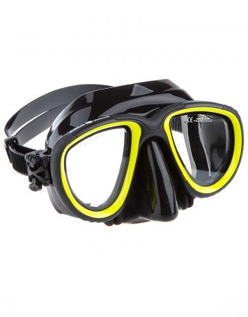 Маска для дайвинга и сноркелинга Pro Dive maskМаски<br>Двухлинзовая маска. Подойдет к трубке PRO DIVE. Закаленное стекло. Противоударная. Автоматическая система регулировки ремешка. Обтюратор и ремешок сделаны из черного силикона. Упакована в пластиковый бокс.<br><br>Цвет: Черный