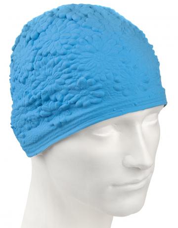 Латексная шапочка для плавания Hawaii ChrysantЛатексные шапочки<br>Латексная женская шапочка с цветочным дизайном<br><br>Цвет: Голубой