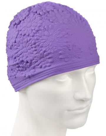 Латексная шапочка для плавания Hawaii ChrysantЛатексные шапочки<br>Латексная женская шапочка с цветочным дизайном<br><br>Цвет: Фиолетовый