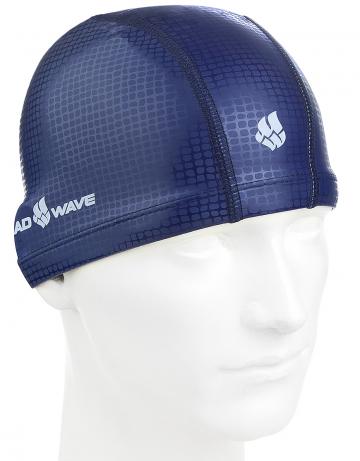 Комбинированные шапочки Mad Wave Texture PU Coated M0588 07 0 00WКомбинированные шапочки<br>Текстильная шапочка с текстурированным силиконовым покрытием. Легкая и комфортная.<br><br>Размер: None<br>Цвет: Синий