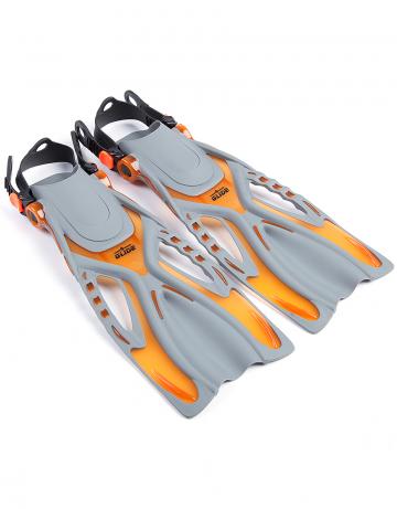 Ласты для дайвинга и сноркелинга Glide juniorЛасты<br>Юниорские ласты для сноркеллинга и дайвинга с тонельным эффектом.<br><br>Размер RU: 27-31<br>Цвет: Оранжевый