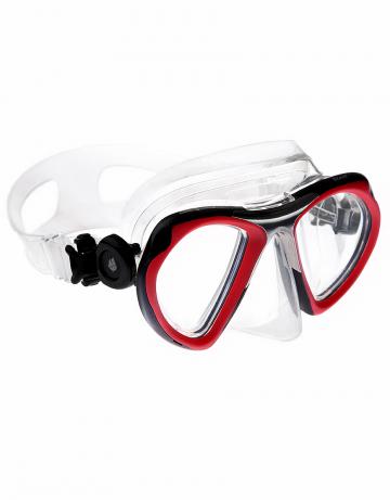 Маска для дайвинга и сноркелинга Steel maskМаски<br>Стильная двухлинзовая маска с фронтом из полированной нержавеющей стали. Подойдет к трубке STEEL. Закаленное стекло. Противоударная. Автоматичская система регулирования ремешка. Силиконовый обтюратор и ремешок.<br><br>Цвет: Красный