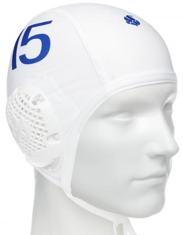 Шапочка для водного поло WATERPOLO CAPSШапочки<br>Вотерпольные шапочки  (комплект 30 штук).<br>красная: №1 - 2 шт, №13 - 2шт<br>белая: №№2-15  - 13шт<br>синяя: №№2-15  - 13шт<br><br>Цвет: Синий