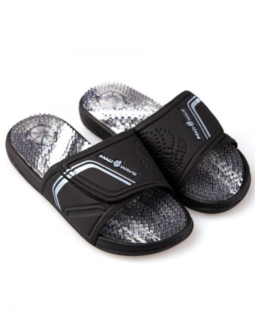 Женская обувь для бассейна и пляжа MASSAGEЖенская обувь<br>Массажные тапки.<br><br>Размер: 39<br>Цвет: Черный