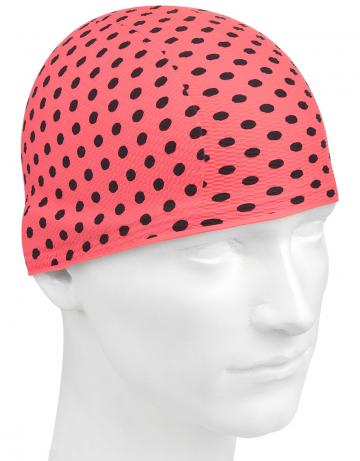 Латексная шапочка для плавания Print BubbleЛатексные шапочки<br>Латексная шапочка с рисунком<br><br>Цвет: Розовый