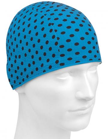 Латексная шапочка для плавания Print BubbleЛатексные шапочки<br>Латексная шапочка с рисунком<br><br>Цвет: Синий