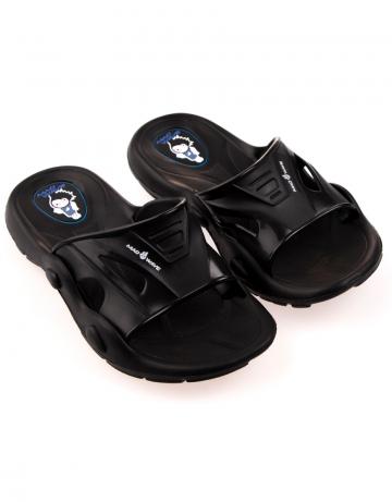 Детские тапочки для бассейна и пляжа FlipperДетская обувь<br>Юниорские тапки для бассейна.<br><br>Размер: 35<br>Цвет: Черный