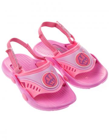 Детские тапочки для бассейна и пляжа FlopДетская обувь<br>Детские тапки со съемным задним ремнем. <br>Верх -ПВХ/Подошва - ПВХ.<br><br>Размер: 26<br>Цвет: Розовый