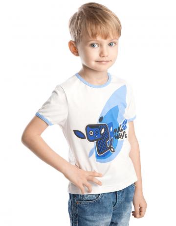 Спортивная футболка Blue FishФутболки<br>Спортивная футболка для мальчиков. Декорирована аппликацией и цветными кантами.<br><br>Размер INT: XXS<br>Цвет: Белый