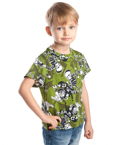 Спортивная футболка Escape JuniorФутболки<br>Спортивная футболка для мальчиков. Ткань с рисунком.<br><br>Размер: XXS<br>Цвет: Зеленый
