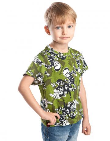 Спортивная футболка Escape JuniorФутболки<br>Спортивная футболка для мальчиков. Ткань с рисунком.<br><br>Размер: M<br>Цвет: Зеленый