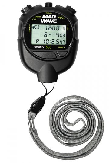 Плеер для плавания Stopwatch 500 memoryЭлектронные устройства<br>Секундомер с дискретом 1/100сек. до 10 час.<br>Память на 500 этапов и раздельных времен на все время отсчета.<br>Вычисление и индикация минимального, максимального и среднего времен.<br>Вызов данных из памяти в течении отчетов и после остановки секундомера.<br>Календарь и время.<br>Будильник.<br>Два таймера (обратный отсчет) до 9 ч 59 мин 59 сек с режимом попеременной работы и счетом полных циклов.<br>Счетчик количества этапов.<br>Водонепроницаемость.<br>Батарейка CR2032<br><br>Цвет: Черный