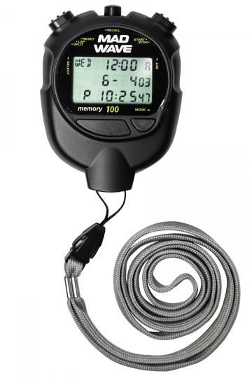 Плеер для плавания Stopwatch 100 memoryЭлектронные устройства<br>Секундомер с дискретом 1/100сек. до 10 час.<br>Память на 100 этапов и раздельных времен на все время отсчета.<br>Вычисление и индикация минимального, максимального и среднего времен.<br>Вызов данных из памяти в течении отчетов и после остановки секундомера.<br>Календарь и время.<br>Будильник.<br>Два таймера (обратный отсчет) до 9 ч 59 мин 59 сек с режимом попеременной работы и счетом полных циклов.<br>Счетчик количества этапов.<br>Водонепроницаемость.<br>Батарейка CR2032<br><br>Цвет: Черный