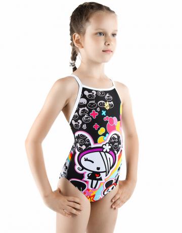 Детский купальник MaddyДетские купальники<br>Купальник спортивный слитный. Тонкие бретели создают свободу движений. Вырез бедра средний. Модель идеально подходит для тренировок и отдыха.<br><br>Размер: M<br>Цвет: Белый