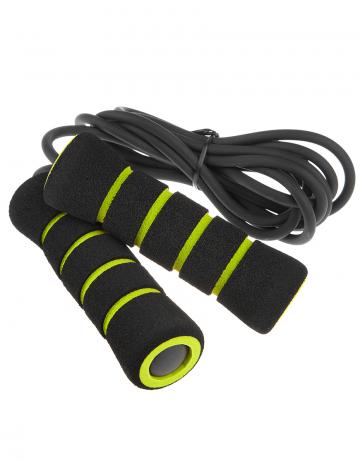 Фитнес тренажер Skip Rope PVCФитнес инвентарь<br>Скакалка с ПВХ тросом для тренировки верхней и нижней части туловища. Удобные неореновые ручки. Длина: 270 см. Диаметр шнура: 6 мм.<br><br>Размер: None<br>Цвет: Черный