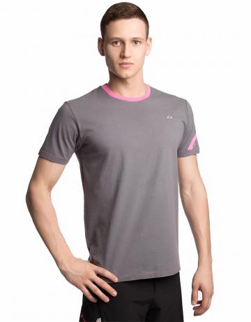 Спортивная футболка SportФутболки<br>Футболка с короткими рукавами прямого силуэта. Модель декорирована трансферной печатью в фирменном стиле.<br><br>Размер: XS<br>Цвет: Серый
