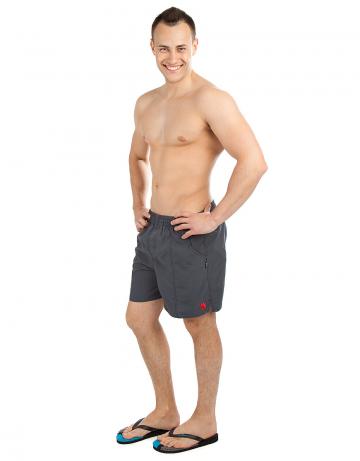 Шорты для плавания SolidsШорты плавательные<br>Мужские плавательные шорты на резинке, внутри шнурок. Спереди и сзади карманы. Внутри сетчатые плавки. Ткань Rib-stop позволяет шортам быстро сохнуть. Длина бокового шва 42 см.<br><br>Размер INT: M<br>Цвет: Серый