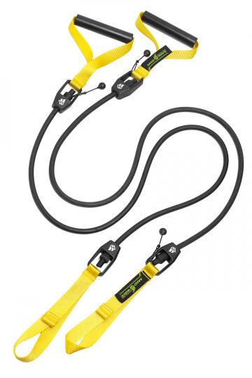 Тренажер для плавания DRY TRAINING with plastic handlesТренажеры<br>Гребной тренажер с ручками для зала. Сделан для имитации занятий в бассейне. Тренажер Dry Training помогает дать нагрузку на специфические мышцы и приучает пловцов держать руки в нужной плоскости. Длина тренажера  1,20 м. Сопротивление: 1,3 до 3,6 кг<br><br>Размер RU: 2,2-6,3 kg<br>Цвет: Черный