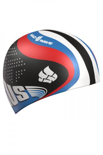 Силиконовая шапочка для плавания Racing SiliconeСиликоновые шапочки<br>Силиконовая шапочка с Российской символикой. Специальные выступы на боках для фиксации ремешка.<br><br>Размер: None<br>Цвет: Черный