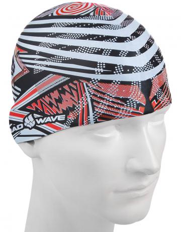 Силиконовые шапочки Mad Wave STRIPES M0552 01 0 05WСиликоновые шапочки<br>Силиконовая шапочка с рисунком.<br><br>Размер: None<br>Цвет: Красный