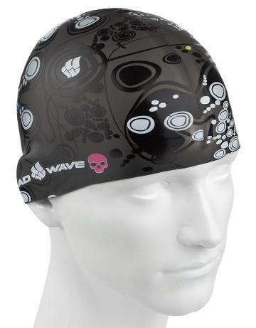 Силиконовая шапочка для плавания MELANCHOLICСиликоновые шапочки<br>Силиконовая шапочка с рисунком. Представлена в трех цветах.  Подходит для взрослых людей и подростков от 10-11 лет<br><br>Цвет: Черный