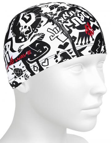 Текстильная шапочка для плавания Lycra MONSTERSТекстильные шапочки<br>Детская текстильная шапочка. Для ежедневных тренировок.<br><br>Размер: None<br>Цвет: Белый