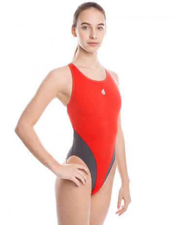 Купальник антихлор для бассейна ReactionКупальники антихлор<br>Купальник слитный с эргономичной спиной Active Back. Модели из светлой ткани спереди на подкладке. Вырез бедра высокий. Серия ткани Training. Идеально подходит для частых тренировок.<br><br>Размер: XL<br>Цвет: Красный