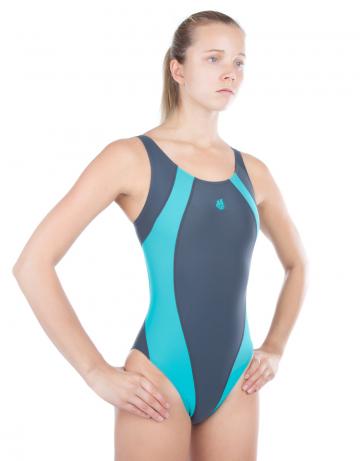 Спортивный купальник для плавания SolutionСпортивные купальники<br>Купальник слитный с формой спины Swift Back на подкладке спереди. Вырез бедра высокий. Серия ткани Training. Идеально подходит для частых тренировок.<br><br>Размер INT: XXS<br>Цвет: Бирюзовый