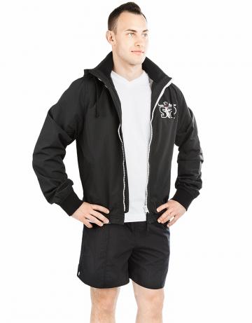 Спортивная толстовка куртка STP WIND BREAKERМужские куртки и толстовки<br>Укороченная спортивная куртка на подкладке с капюшоном. Спереди карманы. Застежка молния металлическая. В капюшоне проходит тесьма. Рукава на двойной резинке. Модель декорирована апликацией и вышивкой. Идеально подойдет к джинсам.<br><br>Размер INT: XL<br>Цвет: Черный