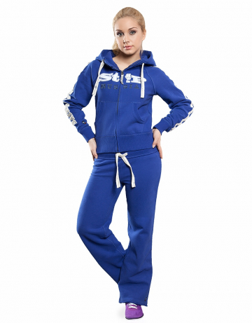 Женские спортивные брюки STP COOL BREAKERЖенские спортивные брюки<br>Брюки премиум  качества с заниженной талией . Пояс  на двойной резинке, внутри проходит тесьма. Модель декорирована апликацией и вышивкой. Использовано натуральное плотное чесаное полотно.<br><br>Размер INT: L<br>Цвет: Синий