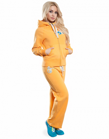 Женские спортивные брюки STP COOL BREAKERЖенские спортивные брюки<br>Брюки премиум  качества с заниженной талией . Пояс  на двойной резинке, внутри проходит тесьма. Модель декорирована апликацией и вышивкой. Использовано натуральное плотное чесаное полотно.<br><br>Размер: XS<br>Цвет: Желтый