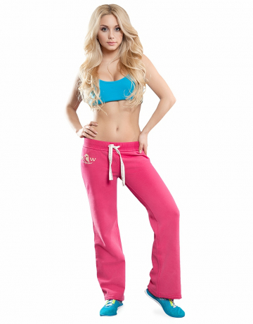 Женские спортивные брюки STP COOL BREAKERЖенские спортивные брюки<br>Брюки премиум  качества с заниженной талией . Пояс  на двойной резинке, внутри проходит тесьма. Модель декорирована апликацией и вышивкой. Использовано натуральное плотное чесаное полотно.<br><br>Размер: L<br>Цвет: Розовый