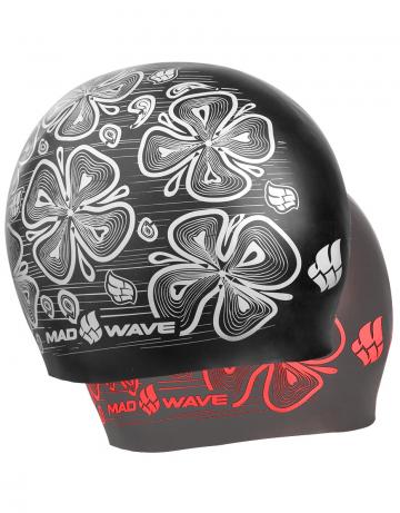 Силиконовая шапочка для плавания Reverse FloraСиликоновые шапочки<br>Силиконовая шапочка Mad Wave Reverse Flora - двусторонняя шапочка со стильным растительным принтом. Основная особенность: совмещает в себе две шапочки разных цветов. Для того чтобы изменить цвет, нужно просто вывернуть шапочку наизнанку.  Мягкий прочный силикон обеспечивает идеальную посадку и комфорт. Материал шапочки не вызывает раздражения, что гарантирует безопасность использования шапочки. Силикон не пропускает воду и приятен на ощупь.<br><br>Цвет: Черный