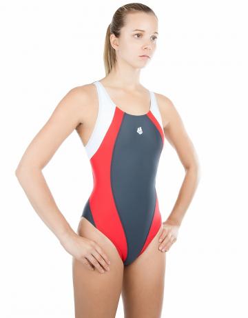 Спортивный купальник для плавания SolutionСпортивные купальники<br>Купальник слитный с формой спины Swift Back на подкладке спереди. Вырез бедра высокий. Серия ткани Training. Идеально подходит для частых тренировок.<br><br>Размер INT: XXS<br>Цвет: Красный
