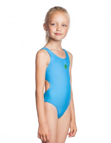 Детский купальник ElenДетские купальники<br>Купальник слитный. Базовая модель. Эргономичный крой спины Techno Back дает полную свободу движений и комфорт при длительных тренировках. Вырез бедра высокий.<br><br>Размер INT: XS<br>Цвет: Голубой