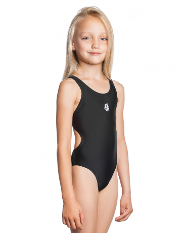 Детский купальник ElenДетские купальники<br>Купальник слитный. Базовая модель. Эргономичный крой спины Techno Back дает полную свободу движений и комфорт при длительных тренировках. Вырез бедра высокий.<br><br>Размер: S<br>Цвет: Черный