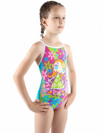 Детский купальник FIOREДетские купальники<br>Купальник спортивный слитный. Тонкие бретели создают свободу движений. Вырез бедра средний. Модель идеально подходит для тренировок и отдыха.<br><br>Размер INT: M<br>Цвет: Розовый