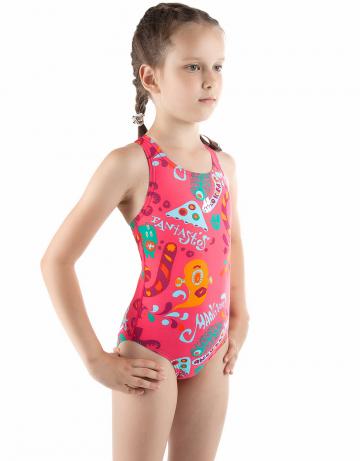 Детский купальник FANTASTOSДетские купальники<br>Купальник спортивный слитный. Закрытая спина создает удобство на старте. Вырез бедра средний. Подходит как для спортивных тренировок, так и для отдыха.<br><br>Размер: XXS<br>Цвет: Красный