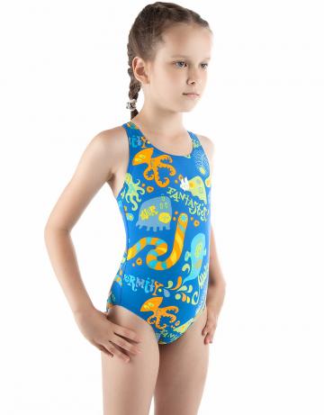 Детский купальник FANTASTOSДетские купальники<br>Купальник спортивный слитный. Закрытая спина создает удобство на старте. Вырез бедра средний. Подходит как для спортивных тренировок, так и для отдыха.<br><br>Размер: S<br>Цвет: Синий