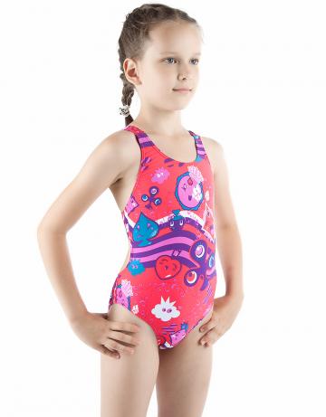 Детский купальник CARDSДетские купальники<br>Купальник спортивный слитный. Закрытая спина создает удобство на старте. Вырез бедра средний. Подходит как для спортивных тренировок, так и для отдыха.<br><br>Размер INT: XXL<br>Цвет: Красный