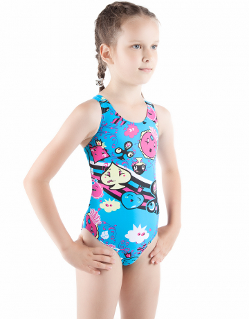 Детский купальник CARDSДетские купальники<br>Купальник спортивный слитный. Закрытая спина создает удобство на старте. Вырез бедра средний. Подходит как для спортивных тренировок, так и для отдыха.<br><br>Размер: XL<br>Цвет: Голубой