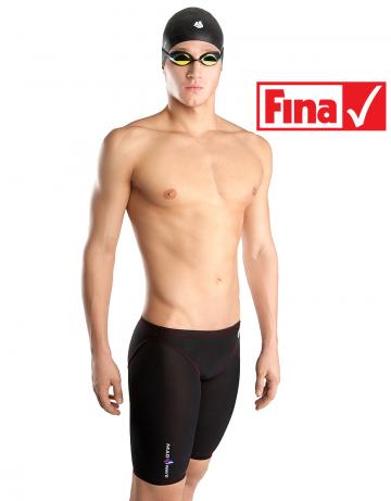 Мужской гидрокостюм для плавания SKIN EXT JammerМужские гидрокостюмы<br>Линейка стартовых костюмов Mad Wave Liquid разработана на базе ультратонкой ткани с использованием обработки с помощью плазмы на наноуровне, повышающей чувство воды и водоотталкивающие свойства костюма. Модель обладает клееной структурой швов для лучшего скольжения и сбалансированными компрессионными характеристиками.<br><br>ОСОБЕННОСТИ:<br><br><br> Умеренный уровень компрессии - идеально для преодоления стайерских дистанций;<br> Технология многослойного тефлонового покрытия ткани - повышает водоотталкивающие свойства костюма;<br> Ультралегкий материал - вес ткани составляет всего 100г/м2;<br> Клееная структура швов - обеспечивает наилучшее скольжение в воде;<br>Надколенные силиконовые уплотнители - обеспечивают идеальную посадку гидрокостюма;<br> FINA approved - гидрокостюм сертифицирован федерацией FINA для участия в международных соревнованиях.<br><br>Размер: M<br>Цвет: Черный