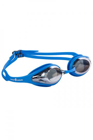 Тренировочные очки Mad Wave Alligator mirror M0427 14 0 03WТренировочные очки<br>Стильные очки для повседневных тренировок. Силиконовая основа для комфортной посадки. Линзы с зеркальным покрытием.<br><br>Размер: None<br>Цвет: Синий